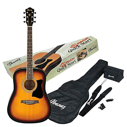 Ibanez V50NJP-VS Acoustic Guitar Pre Pack, Dreadnought, Natural High Gloss.(VS)
