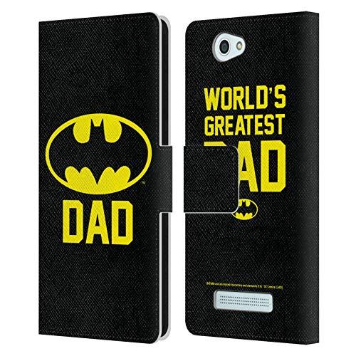Head Hülle Designs Offizielle Batman DC Comics Batdad Logos Leder Brieftaschen Handyhülle Hülle Huelle kompatibel mit Wileyfox Spark/Plus