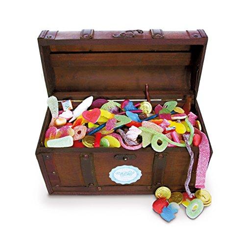 Schmatztruhe, große Süßigkeiten-Holz-Truhe, tolle Geschenk-Idee für Freunde und Familie