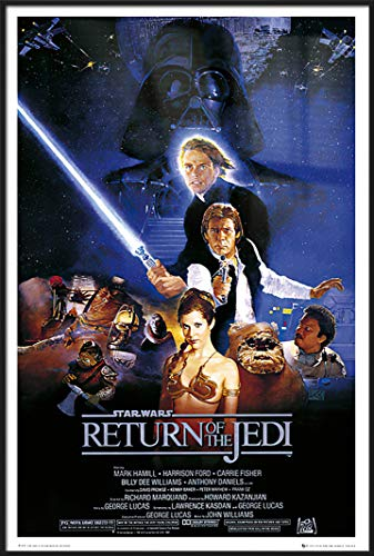 Star Wars: Episode VI - Return of The Jedi - Framed Movie Poster/Print (Regular Style) (Size: 24 inches x 36 inches)