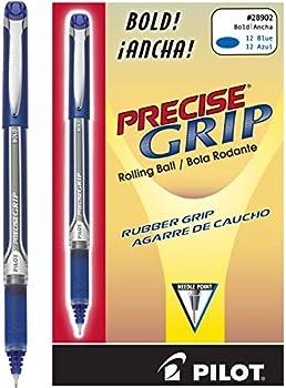 12-Pack PILOT Precise Grip Liquid Ink Rolling Ball Stick Pens