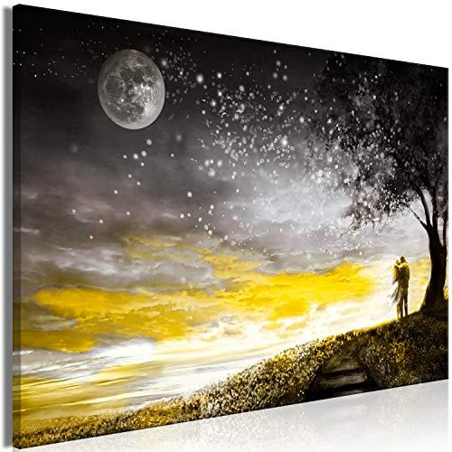 murando Impression sur Toile intissee Couple Romantique 120x80 cm Tableau Tableaux Decoration Murale Photo Image Artistique Photographie Graphique 1 Piece Paysage Mond Amour Gris Jaune h-C-0212-b-a