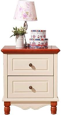 Bedside Tables Bedroom Wooden 2 Drawers Home File Base, Two-Bed Storage lockers, Bedroom Furniture Side Table