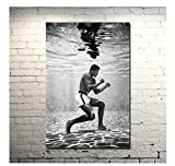 NVRENHUA Mohamed Ali Hatch Boxer Boxer Champion Art Canvas Poster Wall Art Picture Decorate Bedroom 50 * 70Cm Frameless