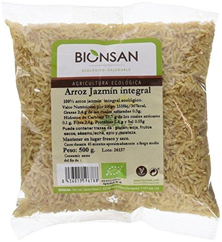 Bionsan Arroz Jazmín Integral Ecológico - 6 Bolsas de 500 gr - Total: 3000 gr
