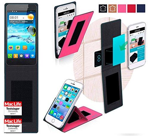 reboon Hülle für JiaYu G4 Advanced Tasche Cover Case Bumper   Pink   Testsieger