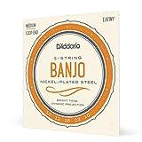D'Addario EJ61NY Medium 10-23 Banjo Strings - NY Steel