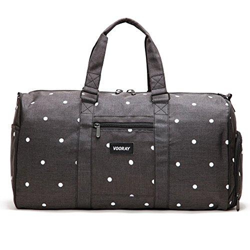 Vooray Trepic Tasche für Ausflüge, 43 l (inklusive Wäschebeutel mit Kordelzug) - Black Polka Dot