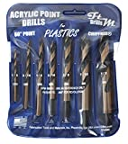 Drill Bits for Plastic (acrylic, plexiglass, ABS, lexan, polycarbonate, pvc) Norseman 7pc Acrylic Point Drill Set in Vinyl Pouch. Includes 1/8', 3/16', 1/4', 5/16', 3/8', 7/16', and 1/2' Part BG4600A