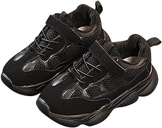 ACHICOO Kids Boys Girls Fashion Net Breathable Leisure Sports Running Shoes black 25 inner long 15.2cm the Latest Stylish