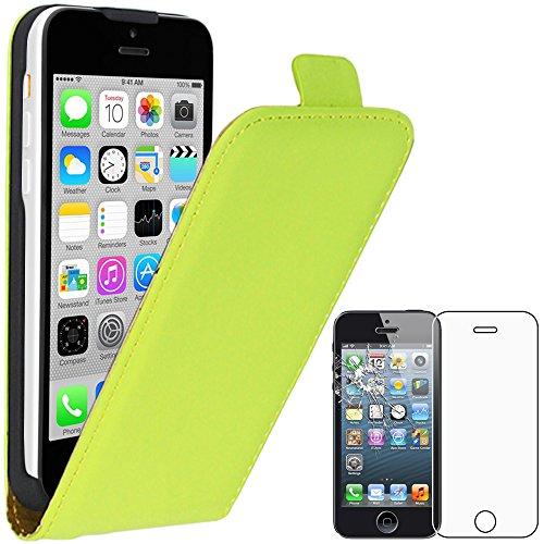 ebestStar - Funda Compatible con iPhone 5C Carcasa Abatible PU Cuero, Ultra...