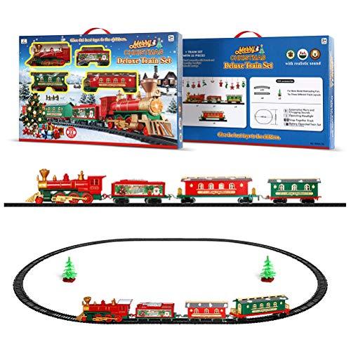 Pywee Weihnachtszug-Set für Kinder Elektrischer Zug mit Musik und leichtem