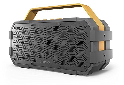 Photive M90 Portable Waterproof Bluetooth Speaker...