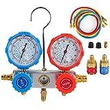 zhuolong Manómetro de refrigerante, manómetro de Alta/Baja presión de...