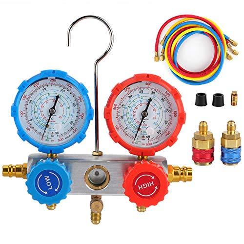 Misuratore di Pressione del Refrigerante Tester Diagnostico per Aria Condizionata per Auto Misuratore di Pressione per Automobile Strumento di Riparazione ad Alta/Bassa Pressione