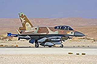 An F-16D Barak of the Israeli Air Force taxis at Ovda Air Force Base Poster Print by Ofer ZidonStocktrek Images (17 x 11)