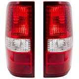 Driver and Passenger Taillights Tail Lamps Replacement for 2004-2008 F150 Styleside Pickup Truck 6L3Z13405BA 6L3Z13404BA