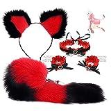 forocean * Novedad Kit Deportivo Ajustable AnâlplÛg Anime Fox Tail y Felpa Diadema de Orejas de Gato para Mujeres Accesorios de Disfraces de Cosplay (Tamaño * M