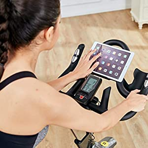 L NOW Indoor Exercise Bike Indoor Cycling Stationary Bike,Magnetic Resistance with 35 Lb Flywheel& Belt Drive &LCD Monitor& Heart Rate