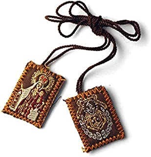 Catholic & Religious Gifts, SCAPULAR CARMEN & SACRED HEART JESUS (MIN 12PCS)