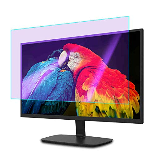 SYEA displayschutz Blendschutz Für PC, Anti-Blaulicht, Strahlenschutz, Am Rahmen Befestigt, Blaulicht-Schutzfolie(Size:21.5in/480×270mm)