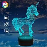 Einhornlicht Einhornlampe Kinder Nachtlicht 7 Farben Ändern Optische Täuschung Nachttischlampen Als Geschenkidee für Jungen und Mädchen Geburtstagsgeschenke