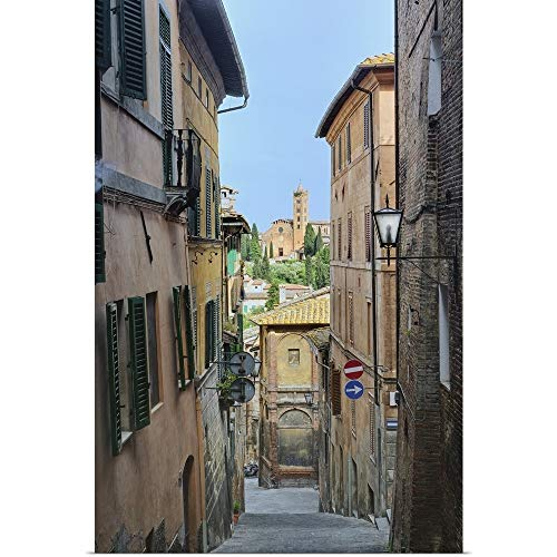 "GREATBIGCANVAS Narrow Alley, Florence, Italy Poster Print, 24""x36"""