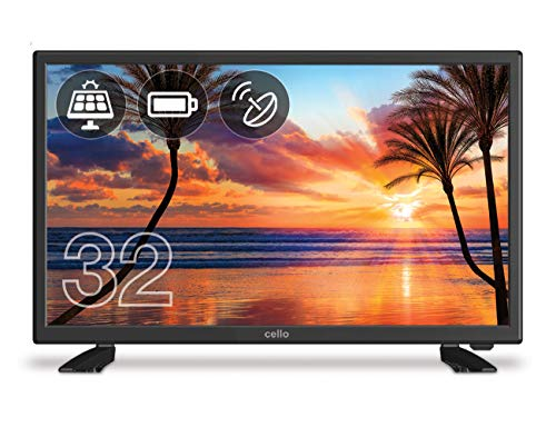 "Cello C32227T2-S2 32"" Rechargeable Battery LED TV with Built-in Freeview T2 HD and Satellite Tuner – UK Made"