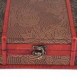 Mothinessto Caja de Almacenamiento de joyería Caja de Madera Delicada para decoración de Mesa de Ministerio del Interior(Peony)