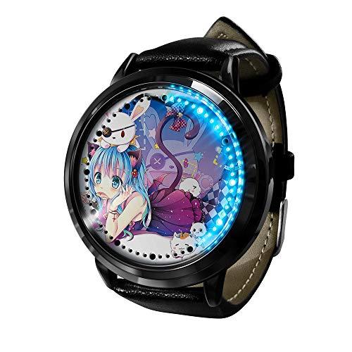 Kriegsdatum Smartwatch, Touchscreen LED-Uhr, animierte Externe wasserdichte elektronische Lichtuhr-A