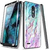 LG Rebel 4 LTE Case, Aristo 3+ Plus/Aristo 3/Aristo 2/Aristo 2 Plus/Tribute Dynasty/Empire/Zone 4/Phoenix 4/Fortune 2/Risio 3/Rebel 3/K8+/K8S w/Screen Protector, NageBee Ultra Slim Glossy Case -Nova