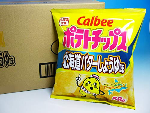 カルビー ポテトチップス 北海道バターしょうゆ味 58g 12袋入