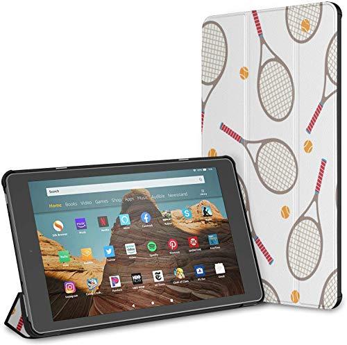 Estuche para Raqueta de bádminton y Raqueta de Tenis Fire HD 10 Tablet (9.a / 7.a generación, versión 2019/2017) Estuche para Tableta Fire 10 Estuche para Nuevo Kindle Fire 10 HD Auto Wake/Sleep pa