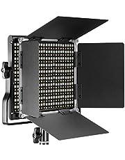 Neewer Przyciemniana dwukolorowa dioda LED z kątownikiem u-i barndoor profesjonalne światło wideo do studio, nagrywania wideo, wytrzymała metalowa rama, 660 diod LED, 3200-5600K, CRI 96+ wtyczka europejska)