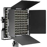Neewer Dimmbare Bi-farbige LED mit u-Haltewinkel und Barndoor Berufsvideo-Licht für Studio, Videoaufnahmen, haltbare Metallrahmen, 660 LED Perlen, 3200-5600K, CRI 96+ (EU-Stecker)