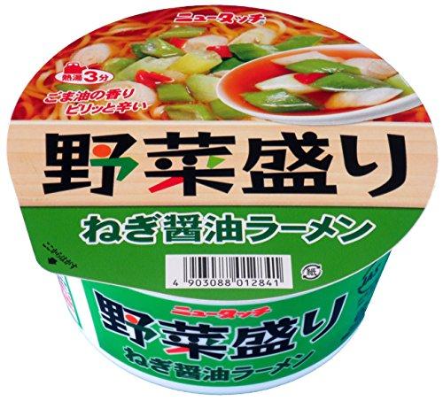 ニュータッチ 野菜盛りねぎ醤油ラーメン 94g×12個