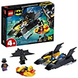 LEGO DC Batboat The Penguin Pursuit, 76158 Top Batman Building Toy for Kids, with Super Hero Minifigures, 2 Boats, a Batarang and an Umbrella, Great Holiday or Birthday Gift, New 2020 (54 Pieces)