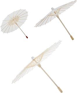 SM SunniMix ミニチュア紙傘 ドールかさ 人形の傘 油性傘 装飾プロジェクト 部屋装飾 ホワイト S M L 3サイズ