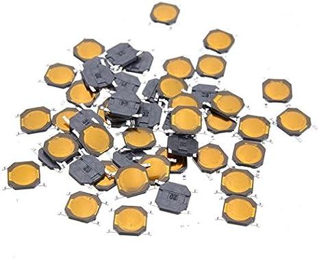 ExcLent 50Pcs Interruptor Táctil Smt Smd Interruptor De Membrana Táctil Presione El Botón Spst-No 4X4X0.8Mm