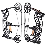 ZSHJGJR Archery Compound Bow 35-65lbs Dual-Purpose Catapult Steel Ball Compound Bows Adult Competition Athletic Bow for Hunting Fishing