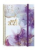 finocam - Agenda 2022 Settimanale orizzontale, da Gennaio 2022 a Dicembre 2022 (12 mesi) E10-155x212 mm Spirale Design Collection Goldy Italiano