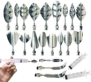 Stainless Steel Flowers Leaves 3D Jelly-Art-Tools Pudding-Nozzle Cake Needles Gelatin Tools  AH