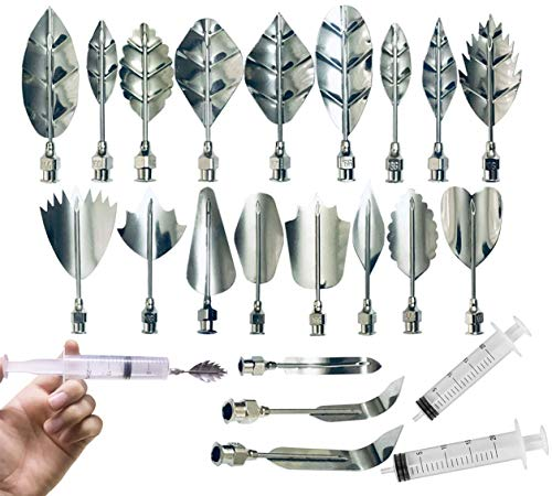 Stainless Steel Flowers Leaves 3D Jelly-Art-Tools Pudding-Nozzle Cake Needles Gelatin Tools