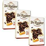 3 X De Ruijter Chocolade-Vlokken Puur - Zartbitter Schokoladen Flocken 300g