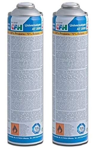 CFH 2 x Universal Gaskartusche für Gas-Unkrautvernichter