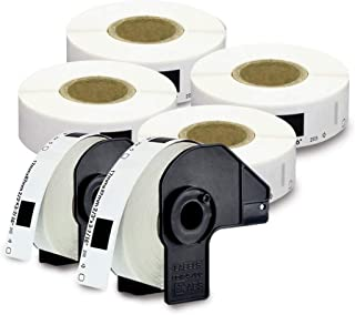 """enKo [6 Rolls/Continuous Labels] Compatible for Brother DK1203 (2/3 x 3-7/16"""")"""
