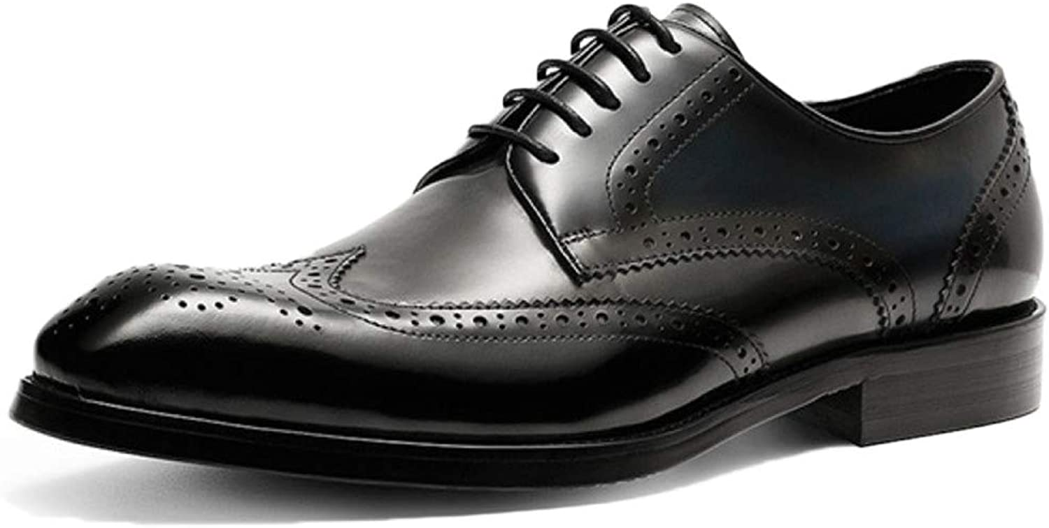 Oxford shoes Mens Comfort Black Working Lace Up Patent Leather Suit shoes Leather shoes Business Dress shoes Fashion