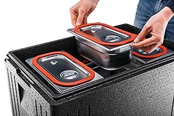 Thermohauser Eco Line Boîte isotherme en polypropylène, normes GN 1/1, avec couvercle, 45 l, noir