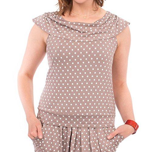 Viva la Mama Schwangerschaftsmode Kleid Sommer Stillkleid Umstandsmode festlich – Milano – Taupe - 6