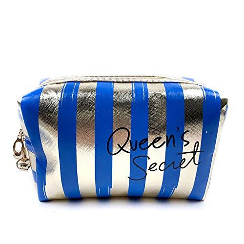 Sacs à cosmétiques Mode Cuir Femmes Make Up Bag PVC Pouch Wash Organisateur de Voyage Case 18.5 * 7.5 * 10.5cm-1_18.5 * 7.5 * 10.5cm